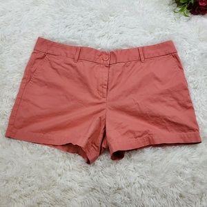 Ann Taylor Loft Coral Color Midi Shorts Size 14